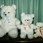 Small, medium and large teddies - can be used as a balloon weight or as a gift to complement an arrangement - Click to enlarge