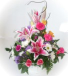Send lilies, carnations and other seasonal flowers for any special occasion - Click to enlarge